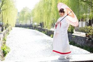 白川での和装前撮り・京都