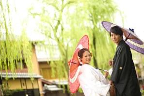 祇園での和装前撮り・京都