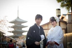 東山での和装前撮り・京都