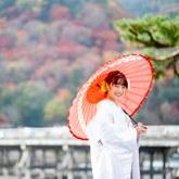 秋の嵐山で和装前撮り-04