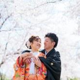 春の嵐山で和装前撮り-02