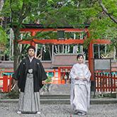 大原野神社で和装前撮り-01