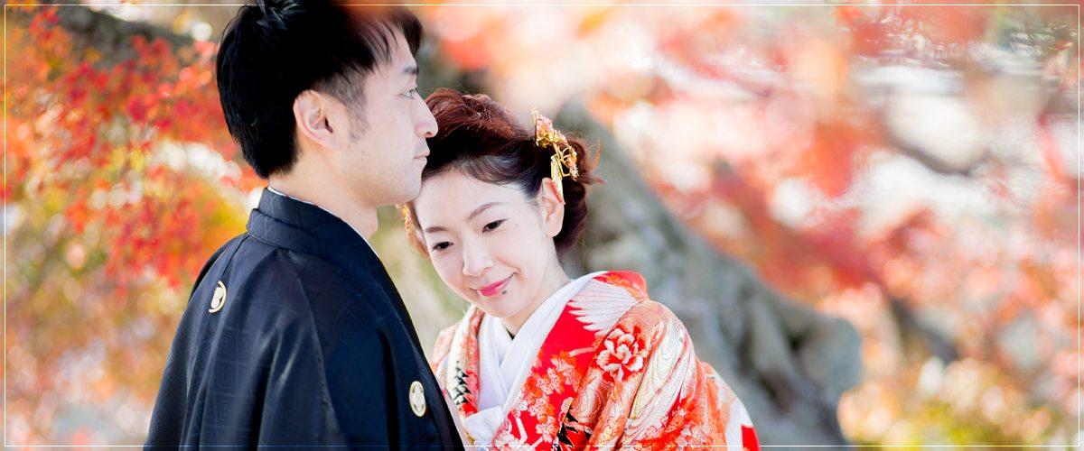 京都前撮り・秋の紅葉シーズン