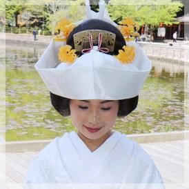 角隠し(日本髪のかつら付き)
