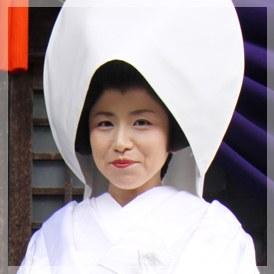 綿帽子(日本髪のかつら付き)