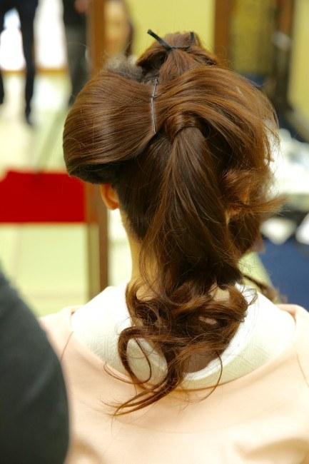 日本髪を結います