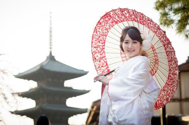 ロケ地「京都の東山」で前撮り