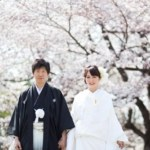 桜の京都で前撮り