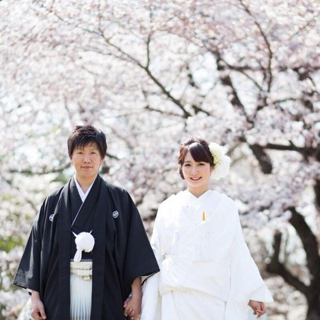 桜の前撮り