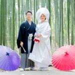 京都嵯峨野の竹林での前撮り