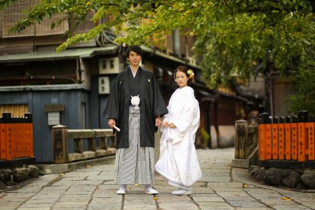 祇園で白無垢