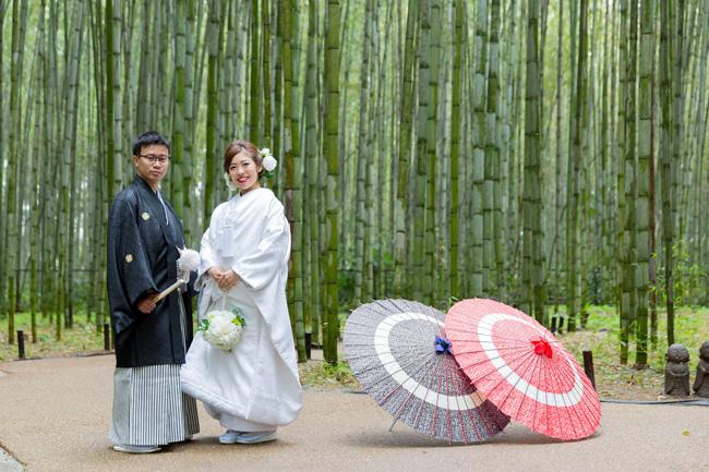 嵐山・嵯峨野の竹林での前撮り
