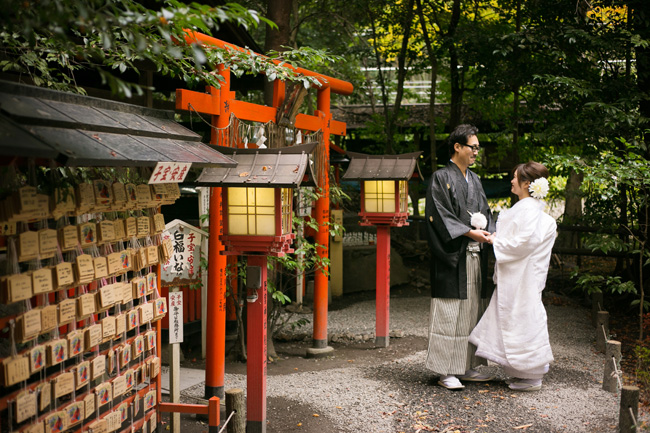 嵐山・野宮神社での前撮り