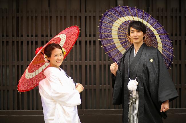 京都の京町家で前撮り