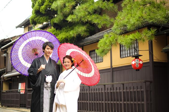 京都・祇園の京町家で前撮り
