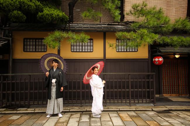 古き良き京都で和装前撮り