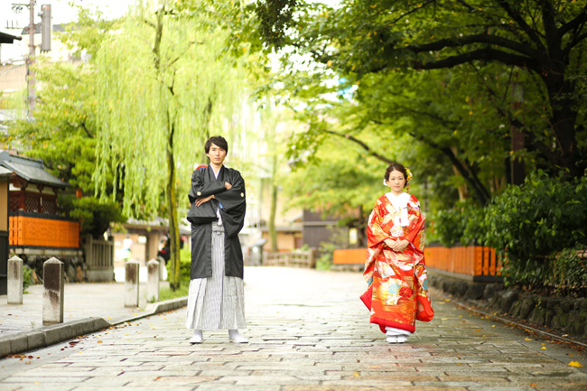 祇園を二人占めした前撮り