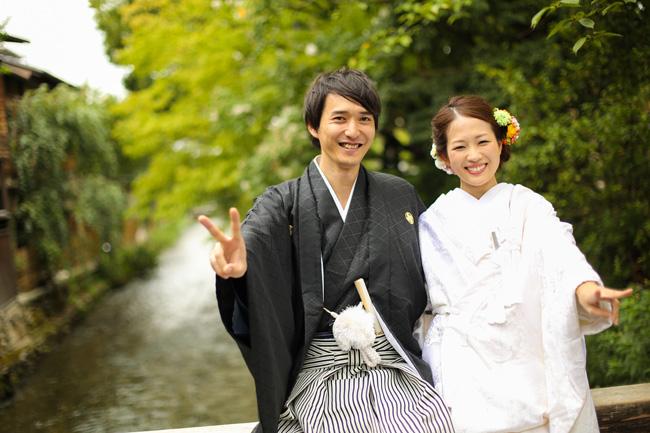 祇園白川で笑顔の前撮り