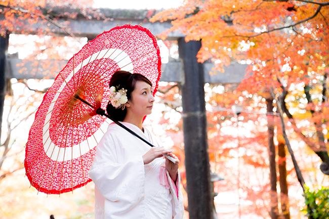 大原野神社にて白無垢で撮影