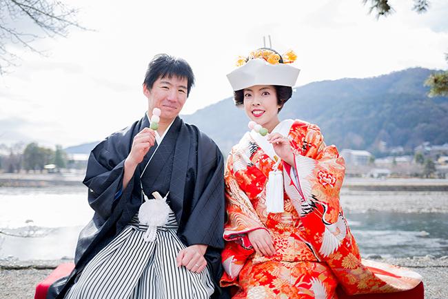 京weddingからのプレゼント!三色だんご!