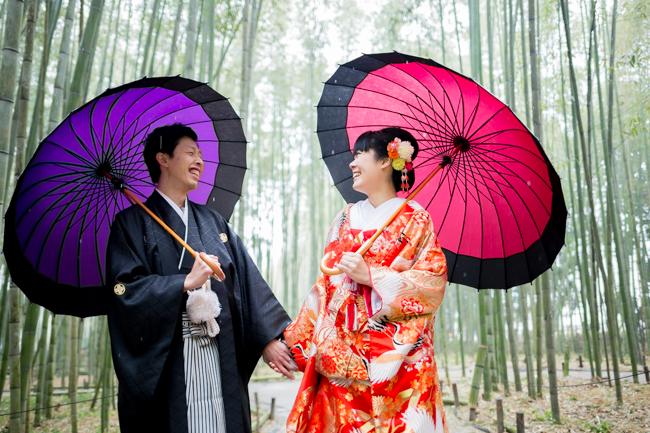 和傘風雨傘にて撮影