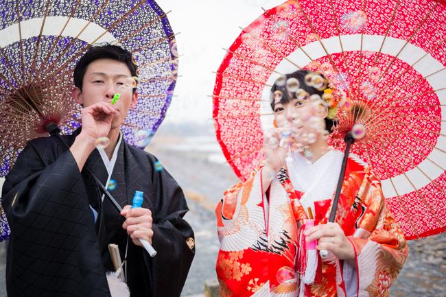 京wedding前撮りアイテムのシャボン玉