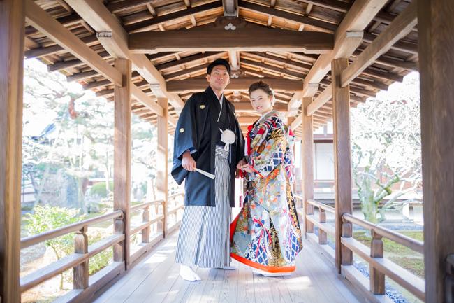 一番の撮影スポット!大覚寺の村雨の廊下!!