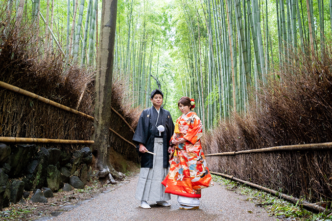 嵯峨野の竹林で和装前撮り!