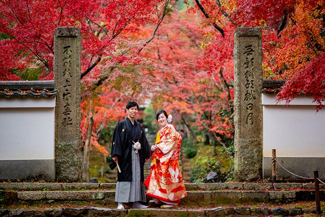 秋の京都前撮り名所!浄住寺!