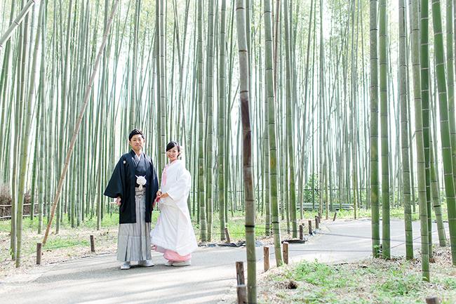 竹林で白無垢は至高の和装前撮り!