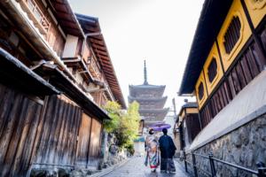 和装で前撮りするなら京都ですよね!