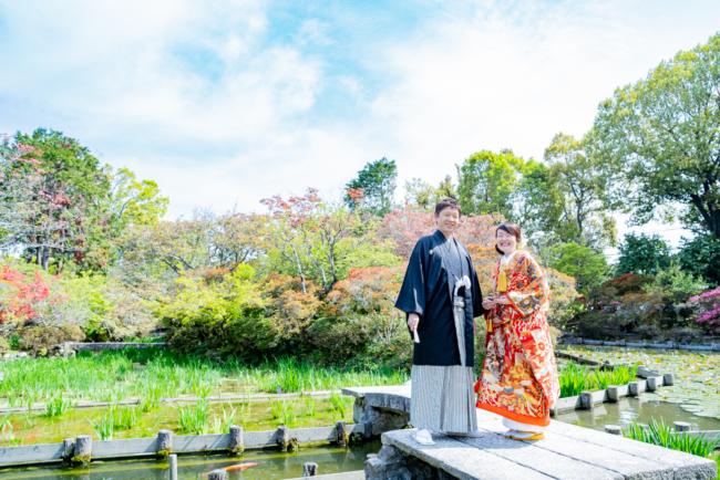 新緑が美しい梅宮大社で和装前撮り!