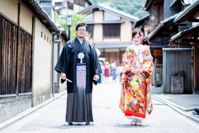 和装姿が映える京の都・東山