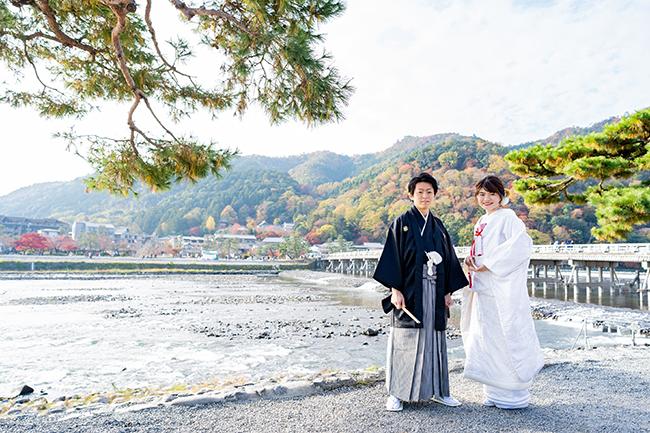 京都有数の景勝地・嵐山での前撮り!