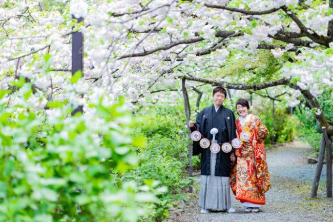 八重桜での和装前撮り!