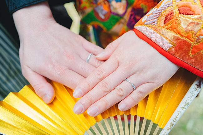新郎新婦の指輪