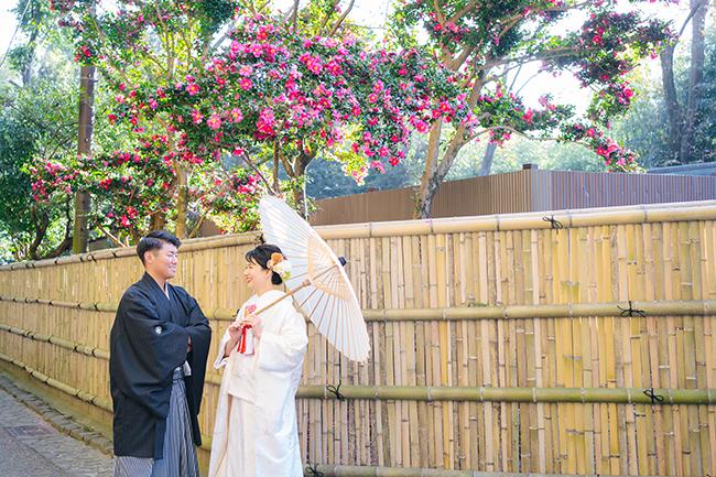嵯峨野の竹林で和装前撮り