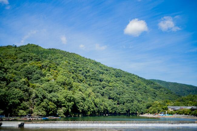 新緑の嵐山